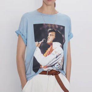 Zara Elvis Presley Graphic T-Shirt